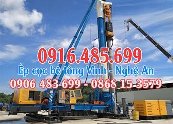 ÉP CỌC BÊ TÔNG Tp Vinh (Nghệ An) gọi 0916485699 - ép cọc bê tông Nghệ An.