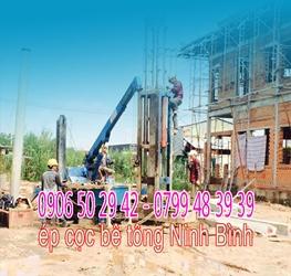 ép cọc bê tông Ninh Bình - ép cọc bê tông tại Ninh Bình